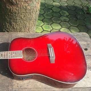 Fender Acoustic Guitar Natural (Red)
