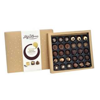 ☆Lily O'Brien's 焦糖巧克力綜合禮盒 430公克☆內含 10 種不同造型與口味共 30 顆