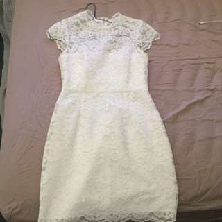 forever new size 8 formal white lace dress