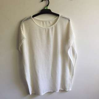Knit White Beach Wear