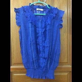 Fashioned Blouse In Blue