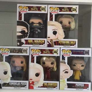 American Horror Story collection of Pop Vinyls