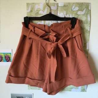 Paper Bag High Waisted Shorts