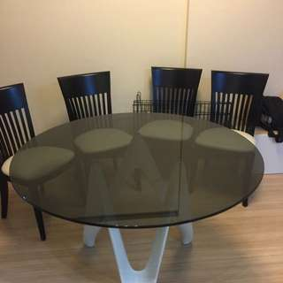Italian Table Set With 4 Chairs Included