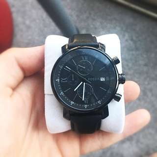 Fossil Men's Classic Edition All Black Chronograph Watch