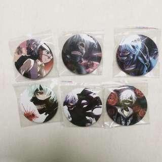 Tokyo Ghoul Plastic Badges