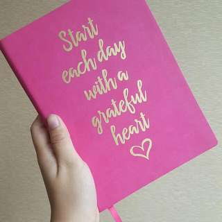 Lady Jayne Pink Leather Cover Notebook
