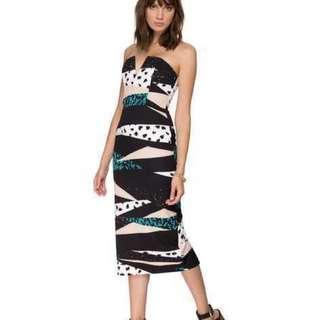 Shona Joy installation Bustier Midi Dress