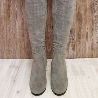 Therapy Grey Over The Knee Boots - Size 37
