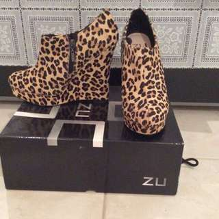 Zu Leopard Real Leather Wedges
