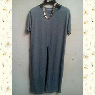 Long Shirt With Front Slit
