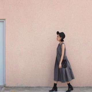 🎈81199 19062。灰色西裝百褶洋裝