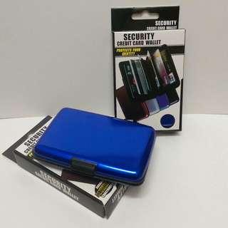 【雜貨】名片夾 手風琴式卡夾 信用卡夾 全新 寶藍色