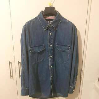 VINTAGE TOMMY HILFIGER - Denim Collard Shirt