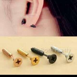 Earrings Screws