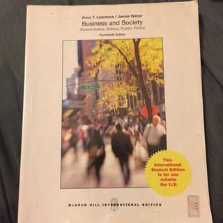 Business And Society (Fourteenth Edition) By Anne T. Lawrence / James Weber