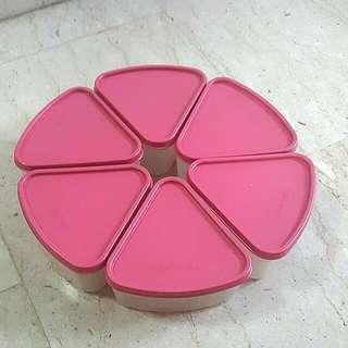 Tupperware Festive Snacks Triangular Containers