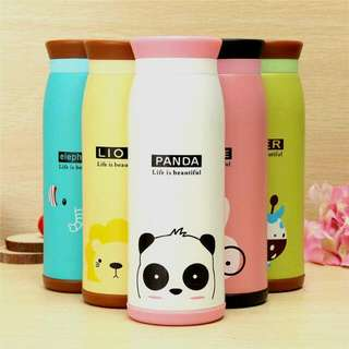Cute Animal Stainless Thermos (Panda - Lion - Rabbit -  Duck - Elephant)