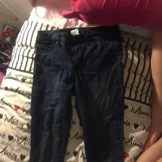 x2 dark blue skinny jeans