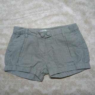K2 低腰 短褲 灰色銀直線