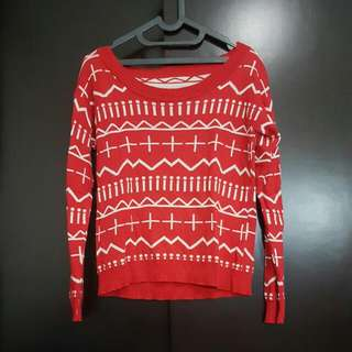 [REPRICED] Red Sweater