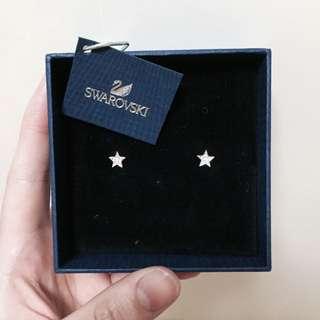 Swarovski星星耳環