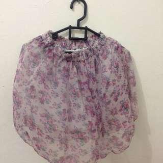 Flowery Skirt Ciffon