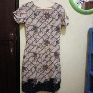 Re Price Dress Batik Semisutra Size S