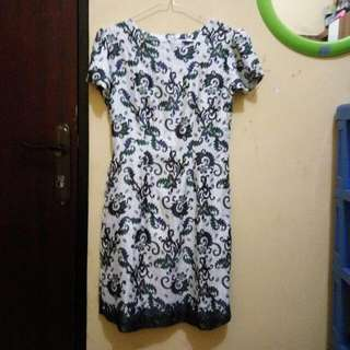 Dress Batik Semi Sutra, Size S