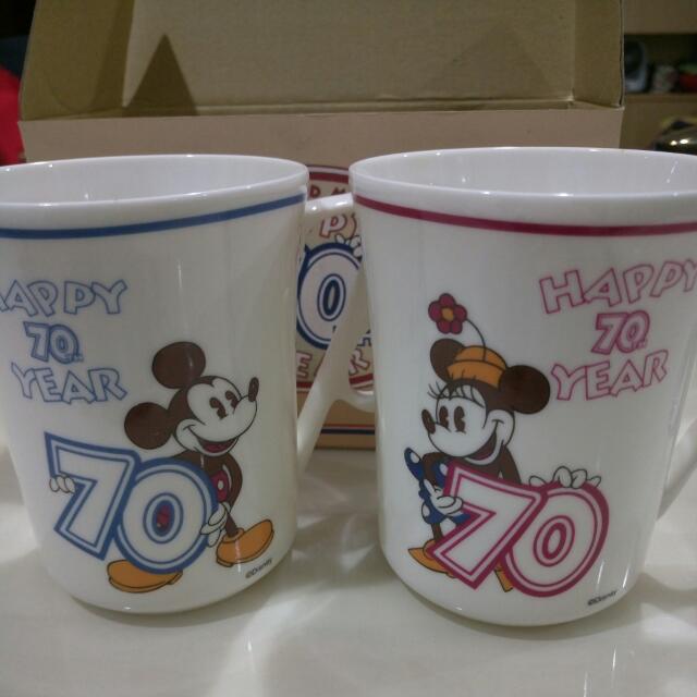 迪士尼70週年紀念款對杯