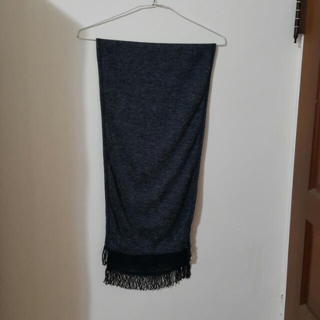 深灰色流蘇圍巾(全館皆可換物)