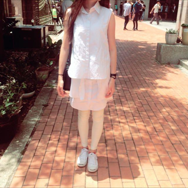 白色漸層襯衫