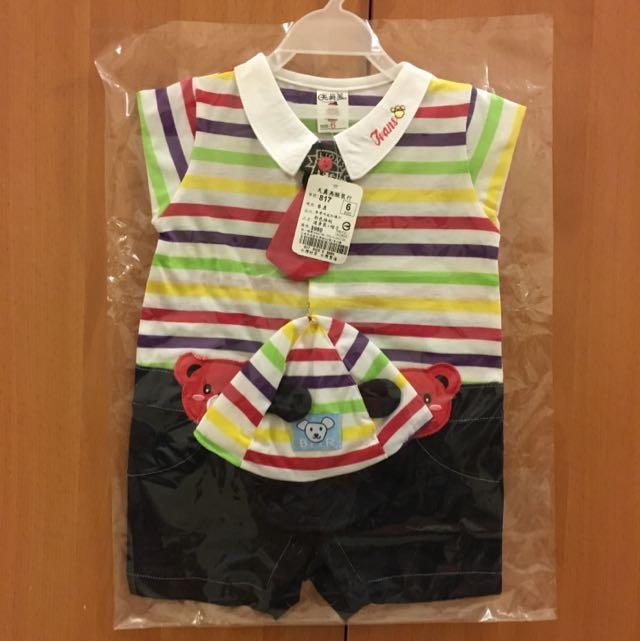 🇹🇼台灣製 寶寶連身衣+帽子