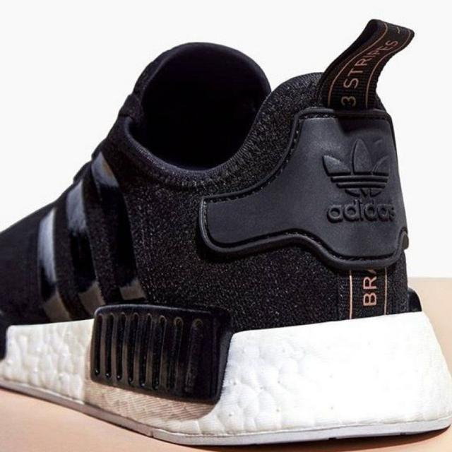 74217cb9610 Adidas NMD R1 Patent Black With Rose Gold Tab