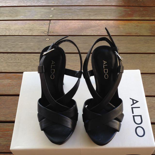 Aldo Platform Heels Black Size 36