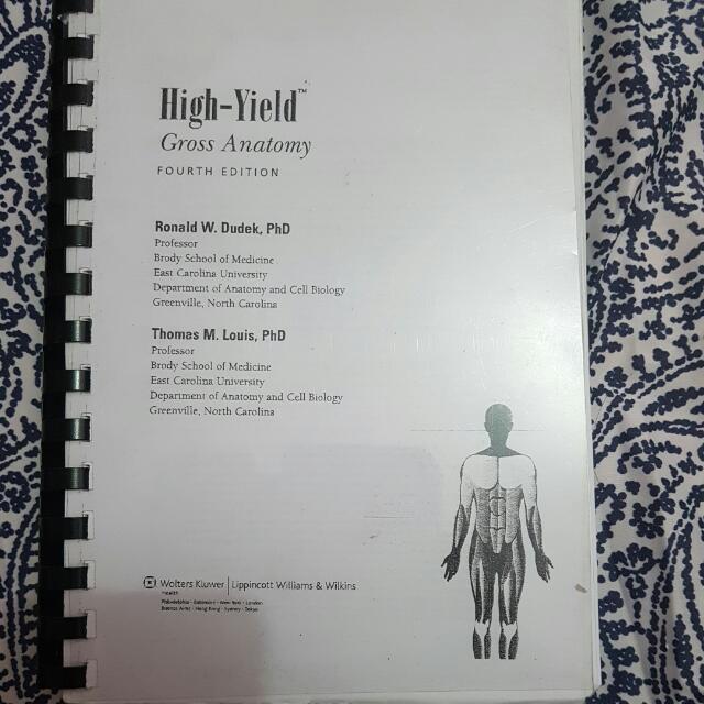 Anatomy Reviewer (High Yield Gross Anatomy), Books, Books on Carousell