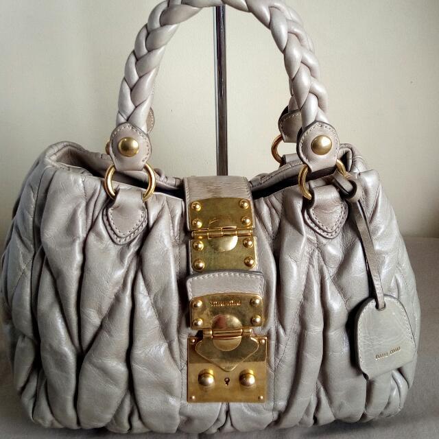 Authentic Miu-miu 2way Bag 9cc8410472ee3