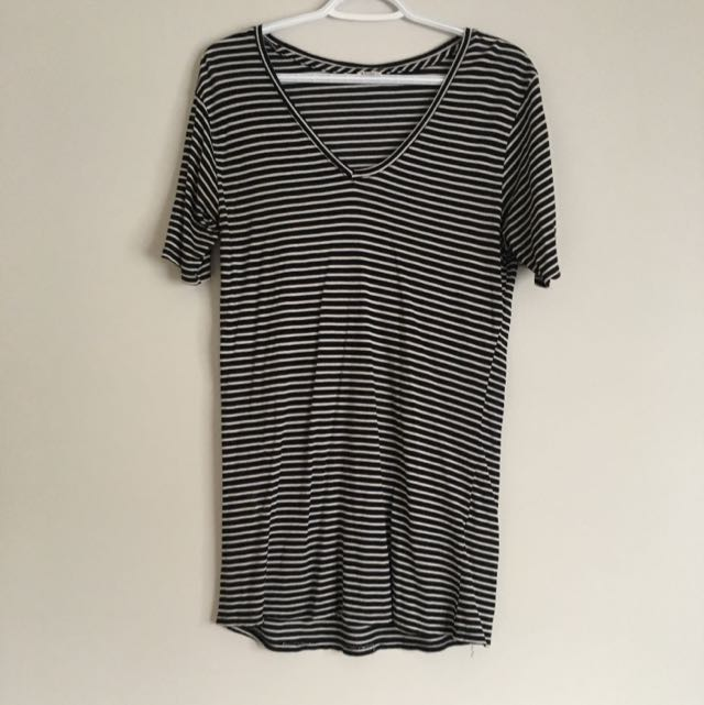 Black And White Striped T Shirt