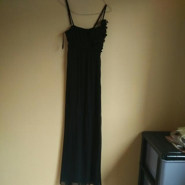 Black Elegant Dress (fit. S-L)  Buat pesta