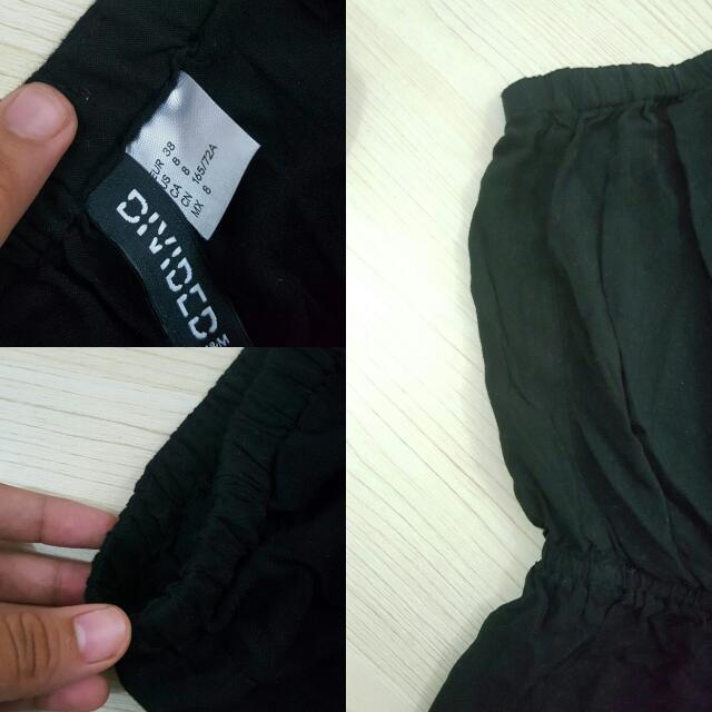 Black Jumpsuit Short   H&M