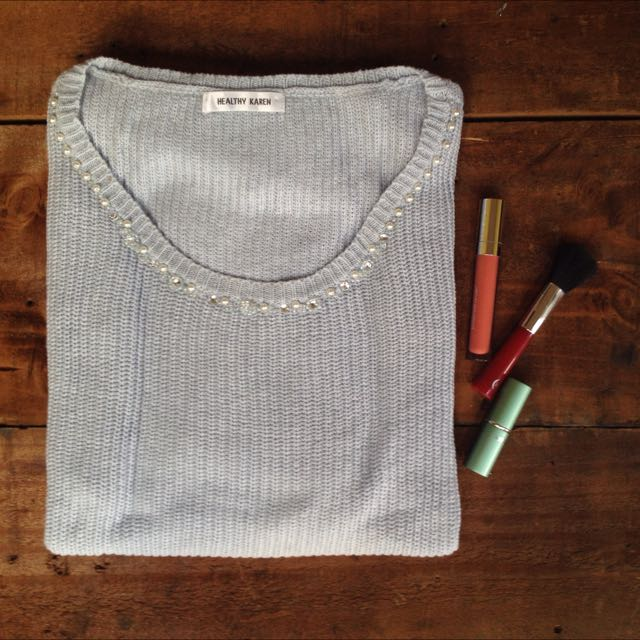 Healthy Karen Blue Chunky Jumper