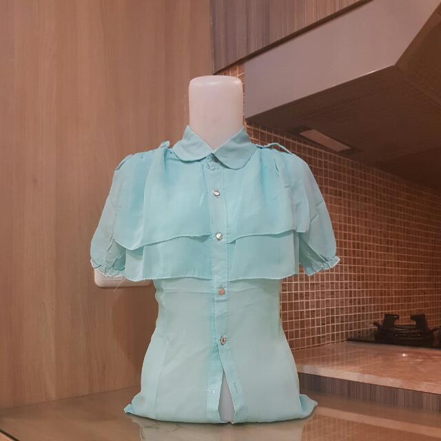 blue swan blouse