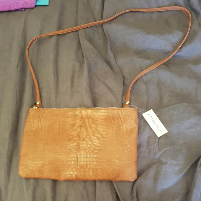Brown Tan Clutch Bag