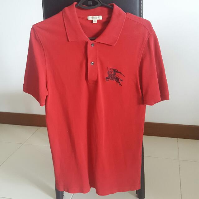 Burberry Big Logo Polo S Size Luxury Apparel On Carousell