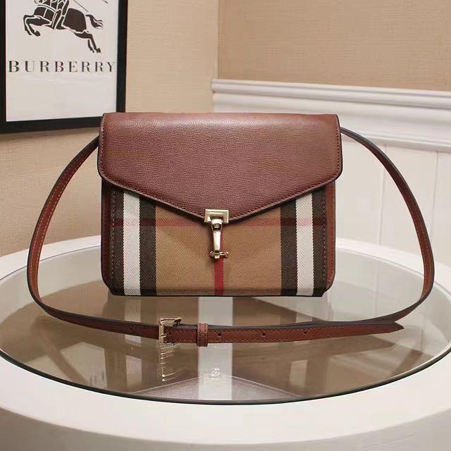 Burberry Small Leather   House Check Crossbody Bag ce6c39a2eef6e