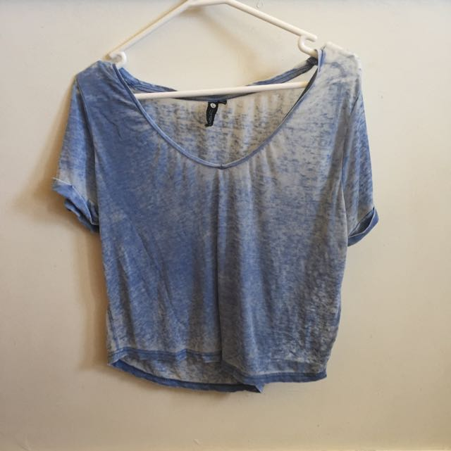 Cotton On Blue Cropped T Shirt