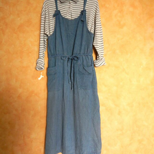 Denim Jeans Overall Dress