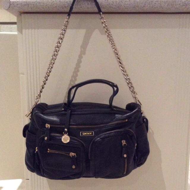 DKNY Leather Boston Bag