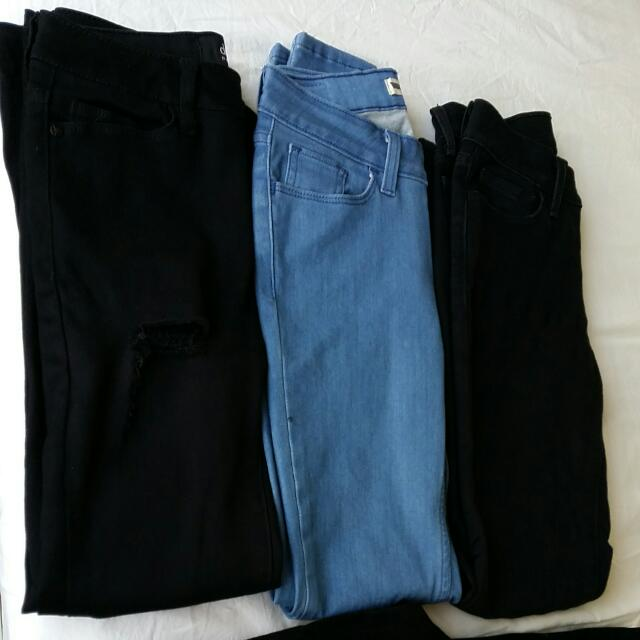 Dotti, Levi's, Cotton On Black Denim Jeans Size 24