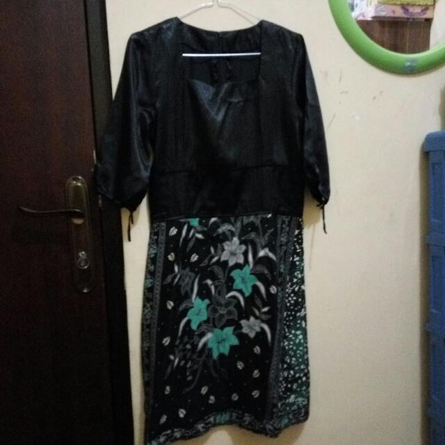 Dress Batik Bikin Di Tukang Jahit, Size S